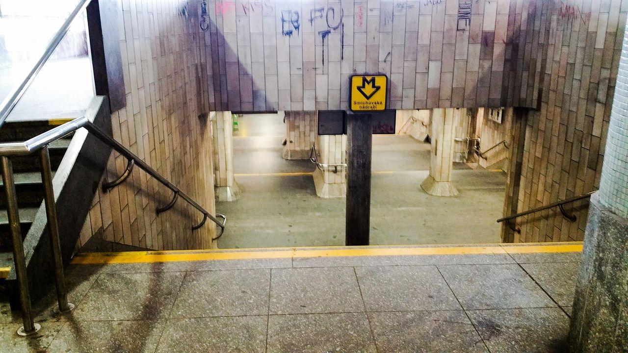 Na metro z nádraží Praha Smíchov