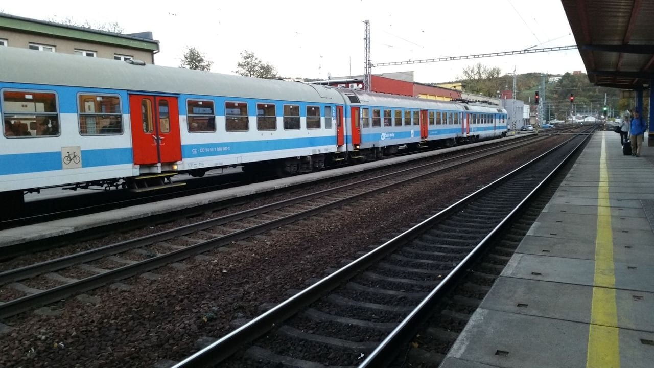 II.nástupiště v Blansku