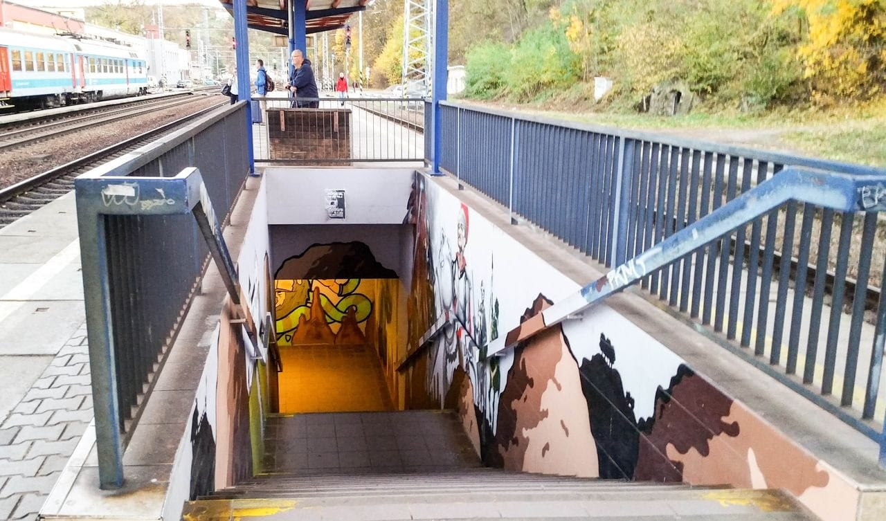 Schody z podchodu na III.nástupiště