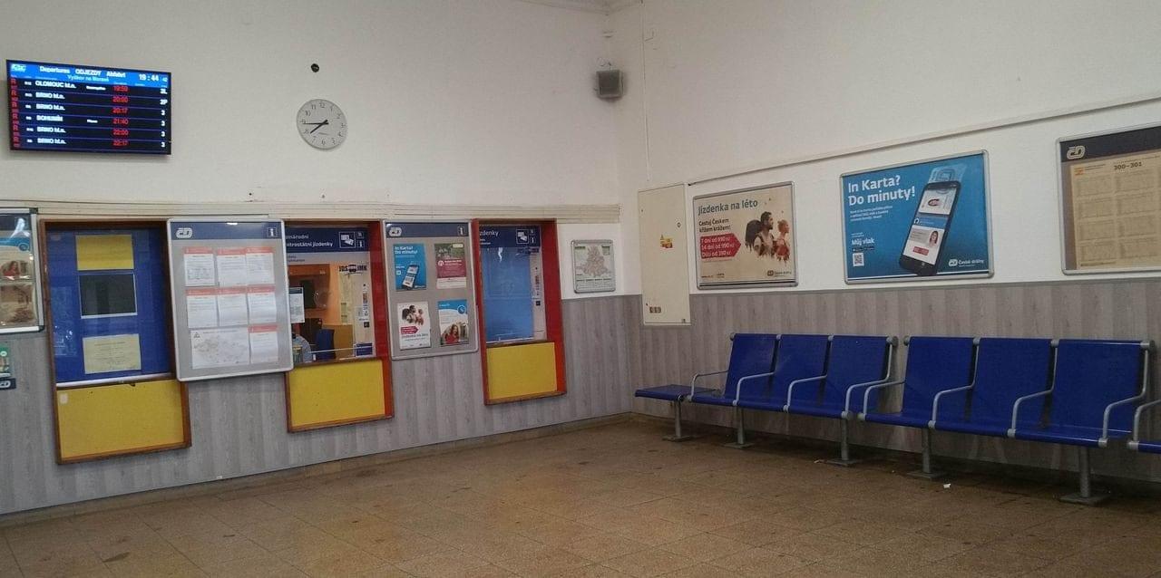 Vyškov na Moravě - pokladny a čekárna