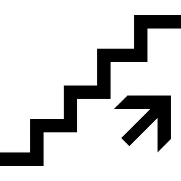 Strmé schody pro nástup do vlaku