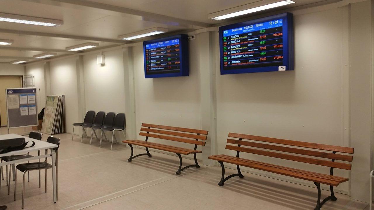 Čekárna na Dolním nádraží v Brně