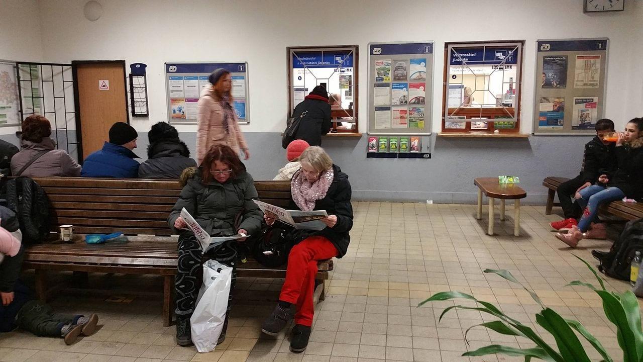 Čekárna na nádraží v Židenicích
