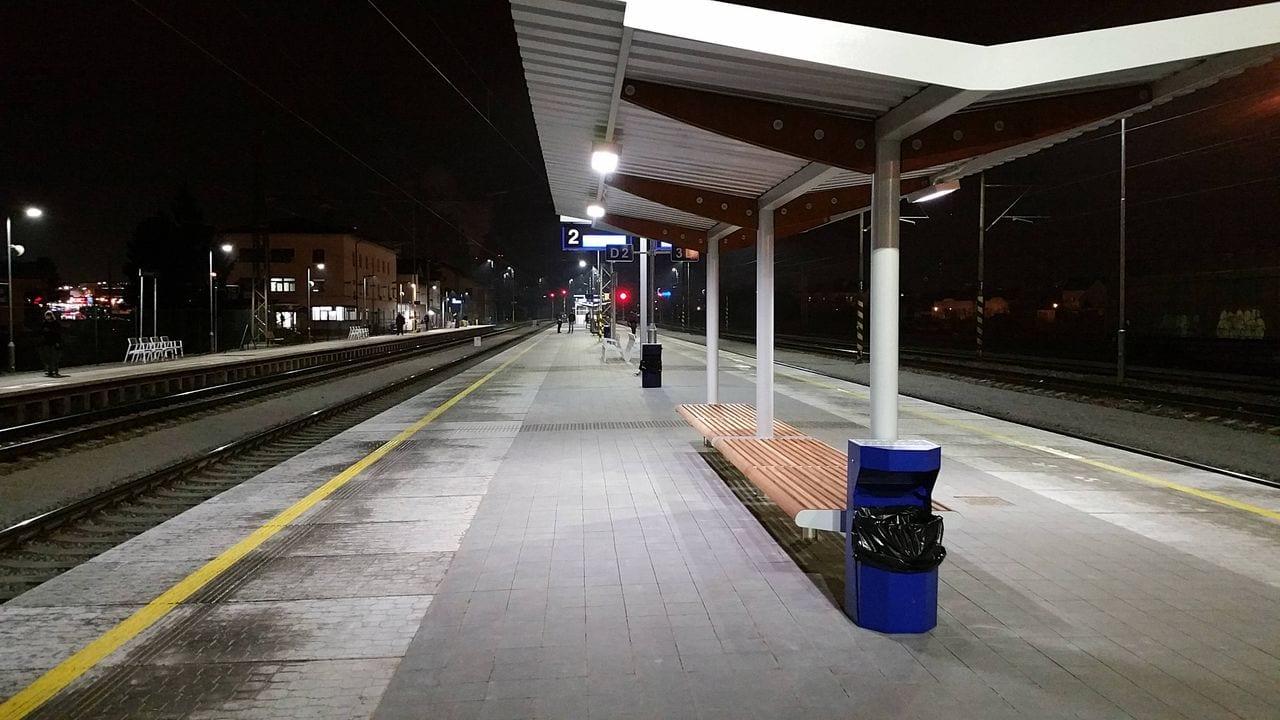 II.nástupiště na brněnském Dolním nádraží