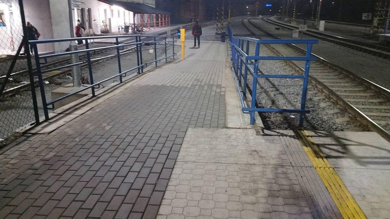I.nástupiště na brněnském Dolním nádraží