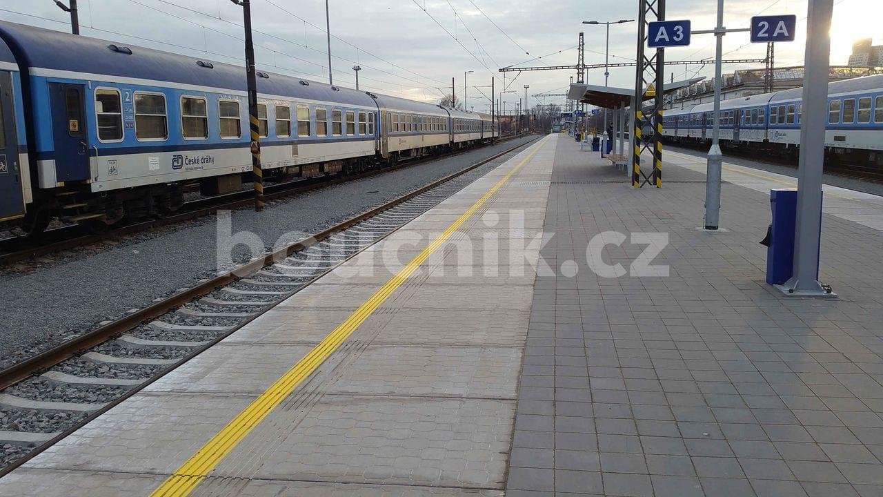 Nástupiště na Dolním nádraží