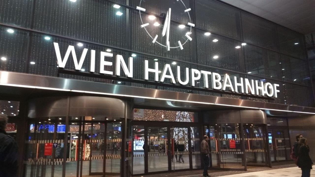 Vstup na hlavní nádraží ve Vídni