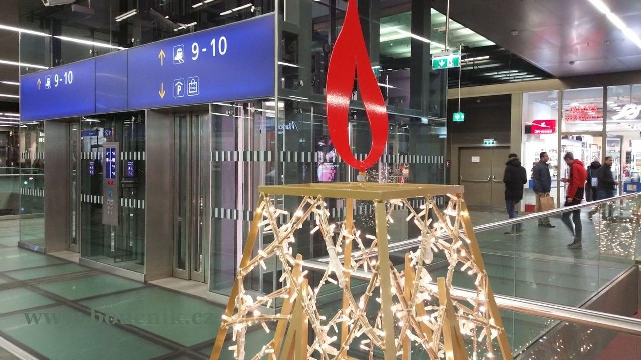 Výtahy na vídeňském nádraží