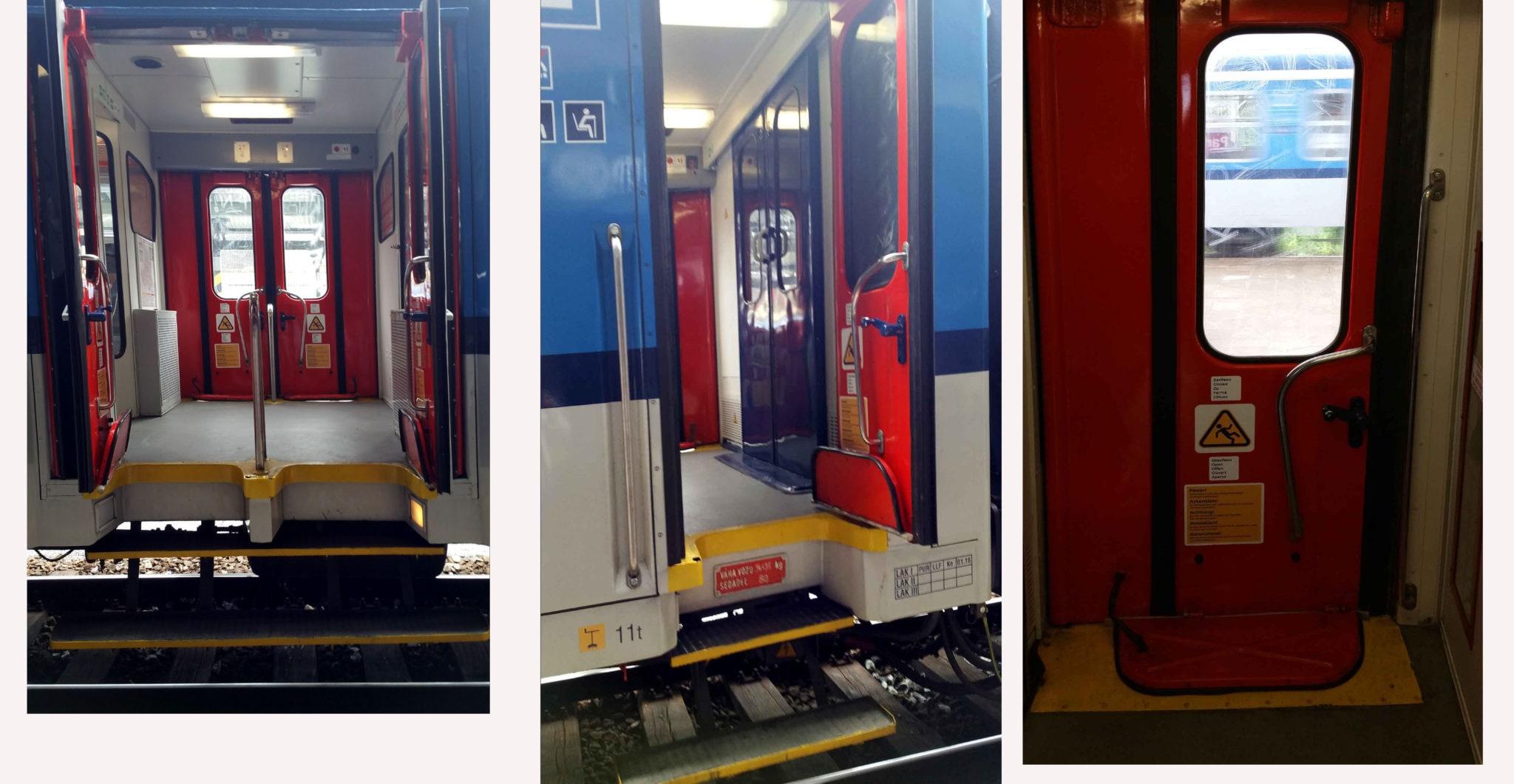Vstupní dveře do vlaku 560 - 060 (Pantograf)