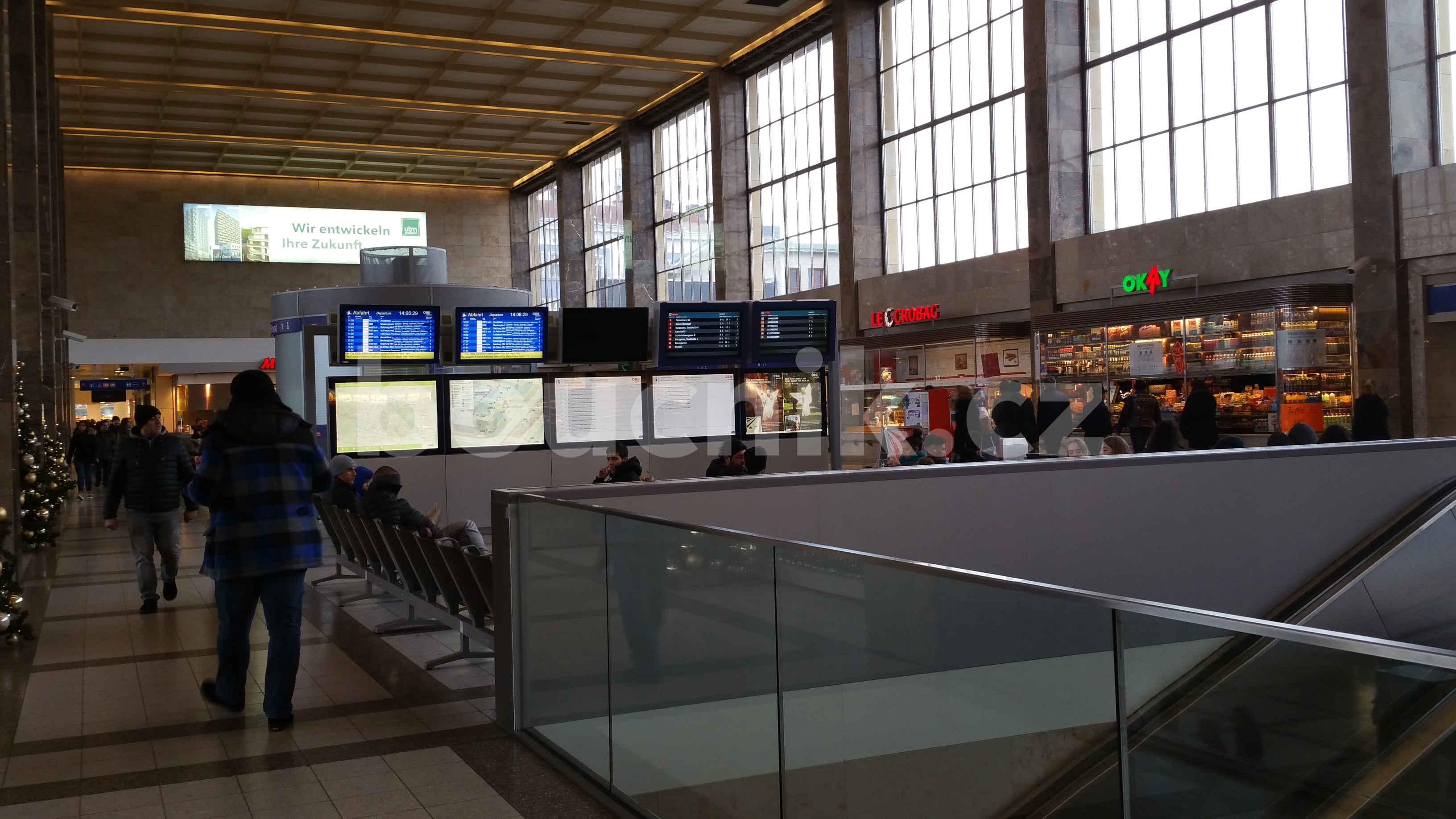 Nádražní hala Vídeň západní nádraží