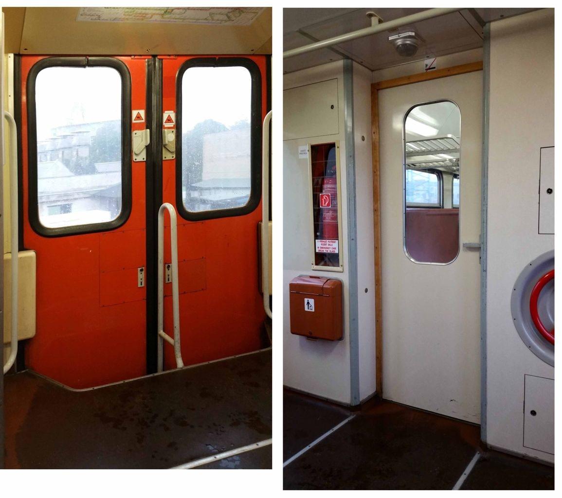Dveře vozu Bdmtee 281 a 275