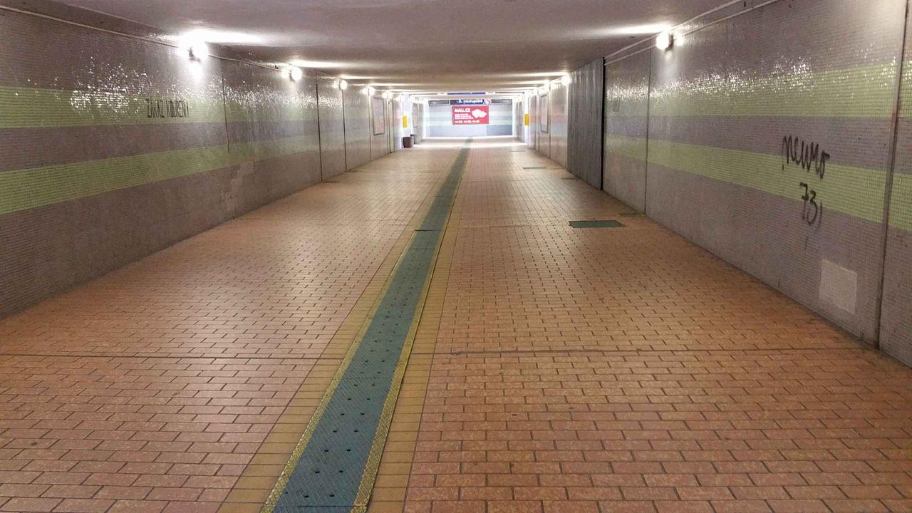 Podchod na nádraží v Nymburku
