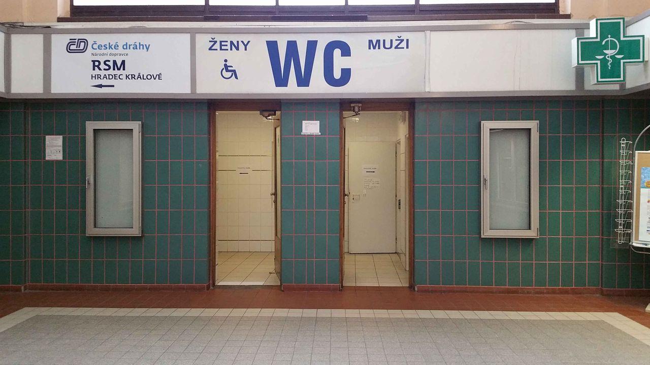 Hradec Králové, hlavní nádraží, záchody