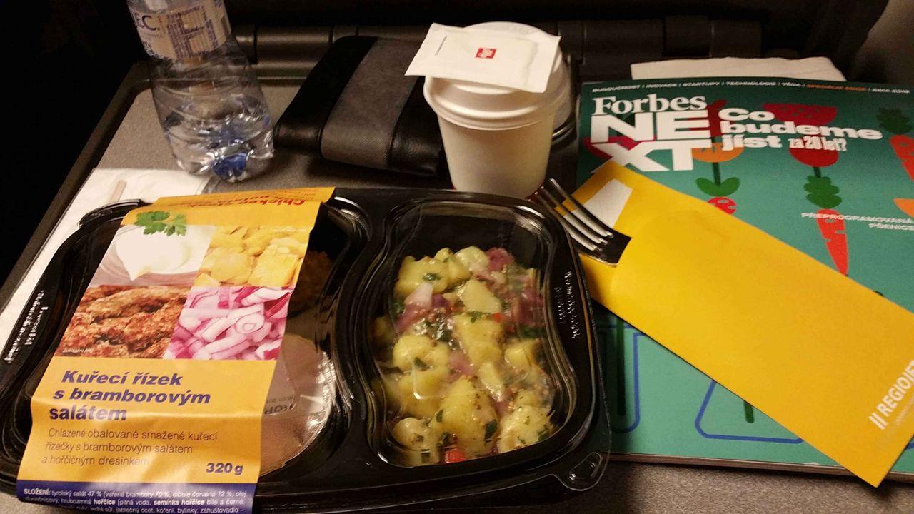 RegioJet vlak - hodnocení jídla