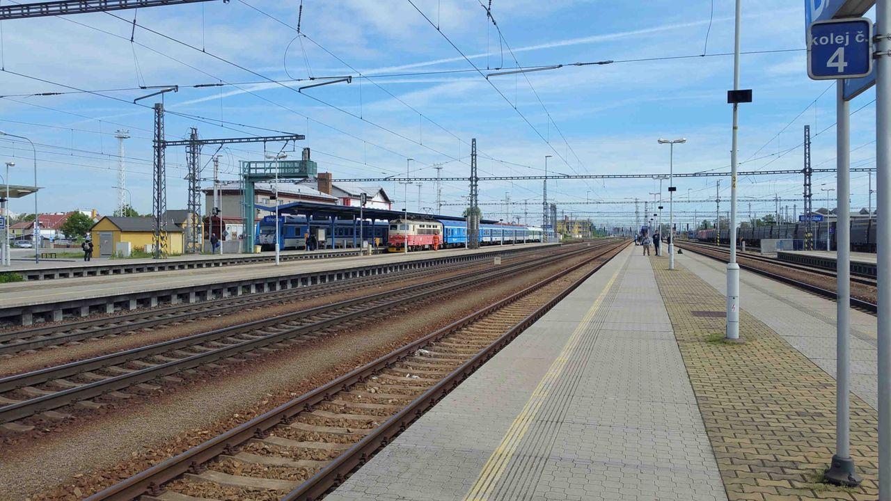 3.nástupiště v Břeclavi na nádraží