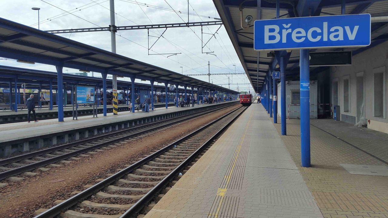 1. nástupiště v Břeclavi