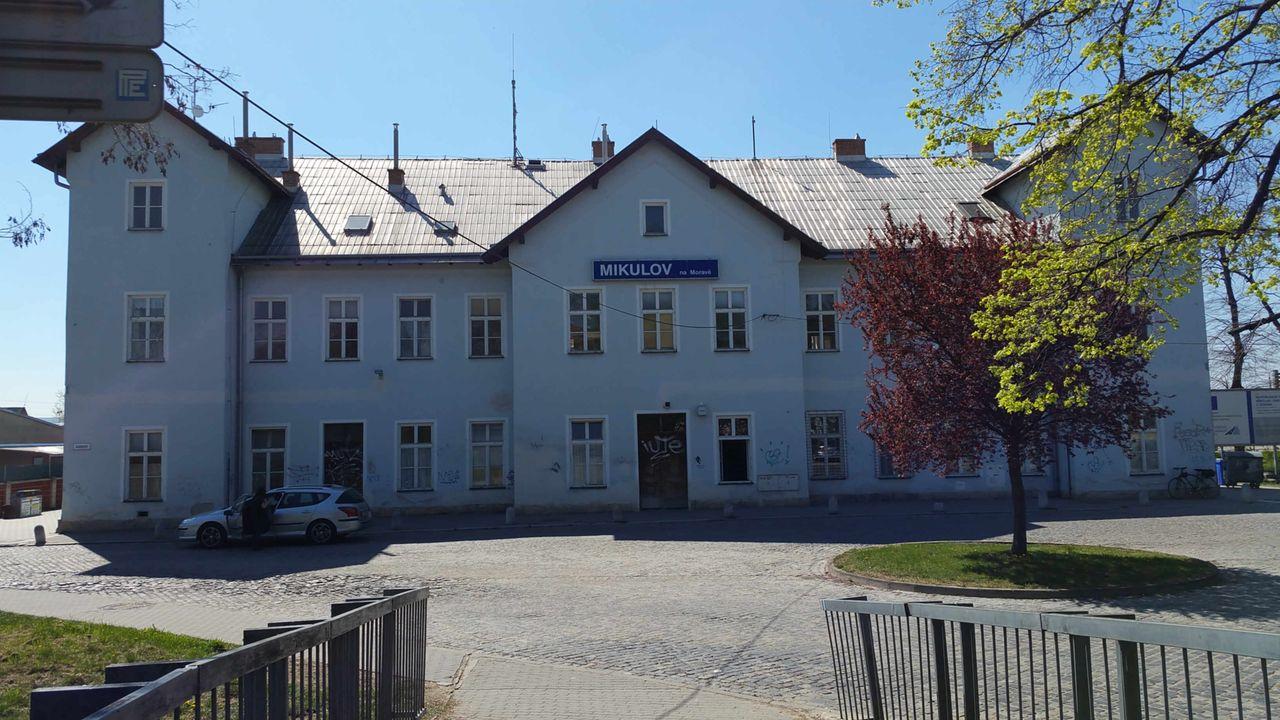 Nádraží v Mikulově na Moravě