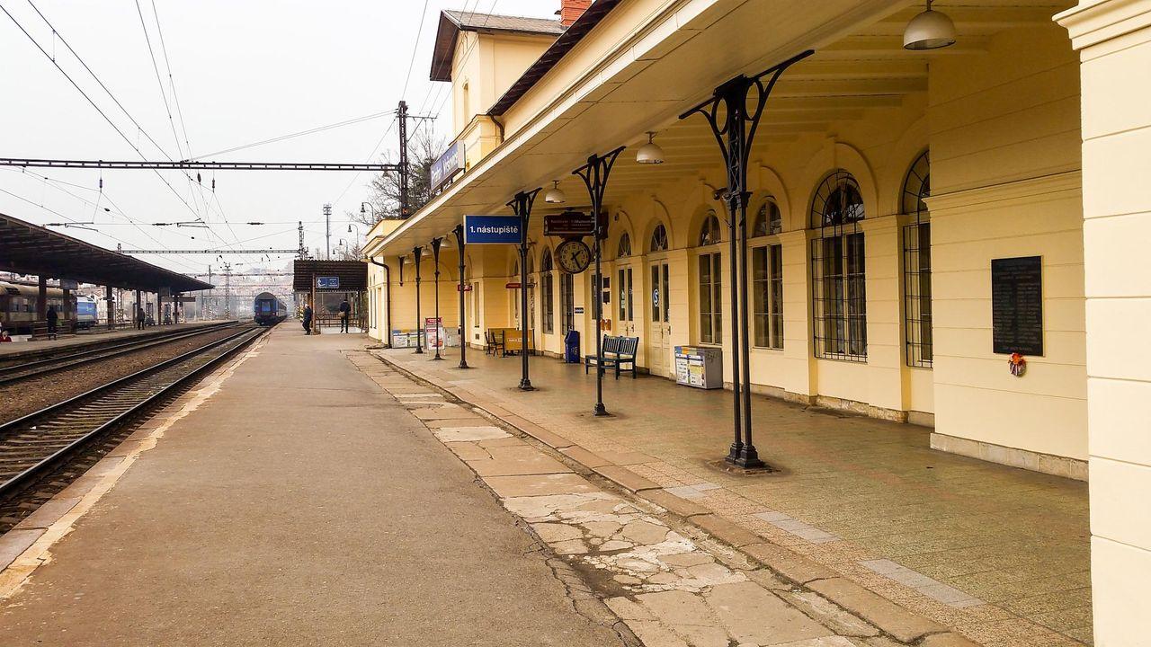 1.nástupiště v Praze Vršovicích