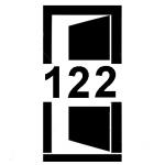Piktogram dveří šířky 122 cm