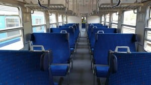 Sedadla ve voze Bdt 280