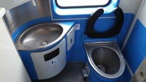 Záchod ve voze Bdt 280