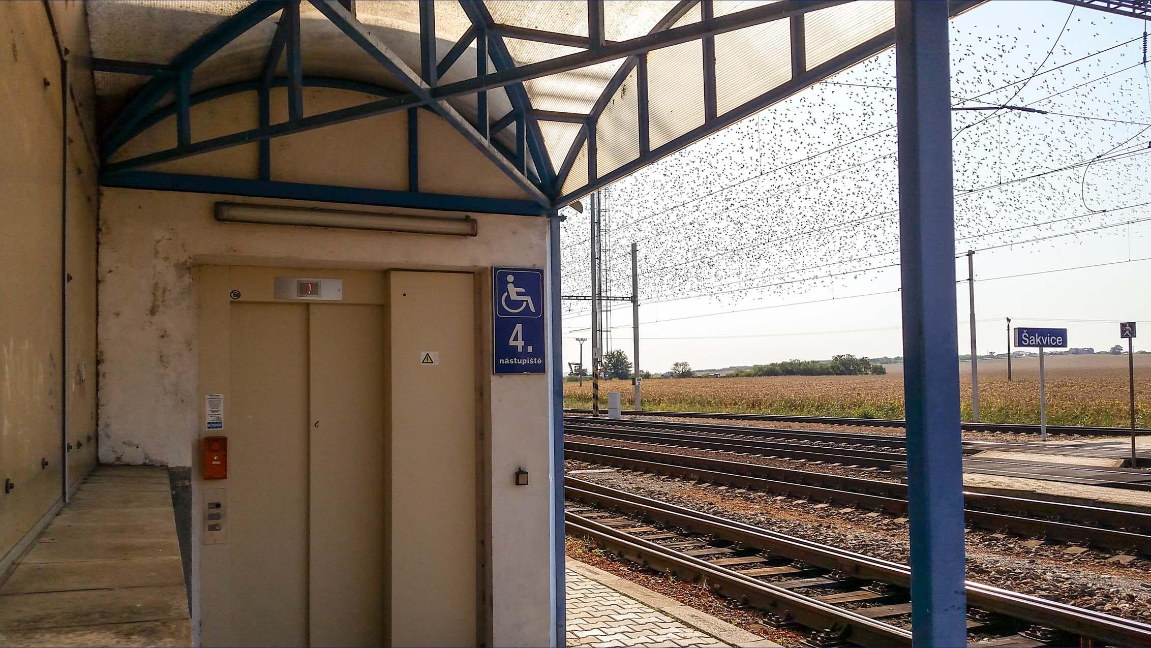Výtah na 4.nástupiště
