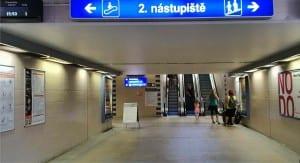 Podchod pod nádražím Olomouc hlavní nádraží
