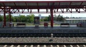 Nádraží Praha-Hostivař - nástupiště