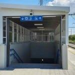 Výstup z podchodu Brno Dolní nádraží