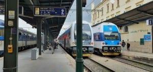 Masarykovo nádraží v Praze: nástupiště u 2.koleje