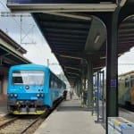 Nástupiště na Pražském Masarykově nádraží