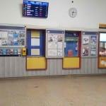 Pokladny na nádraží ve Vyškově