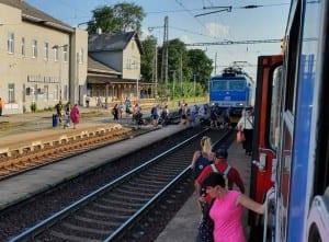 Přístup na vlak ve Vyškově na Moravě
