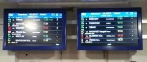 Informační tabule na Dolním nádraží