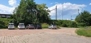 Parkování v Židenicích na nádraží.