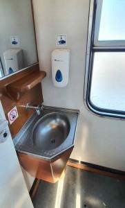 Záchod ve vlaku Bdmtee 281