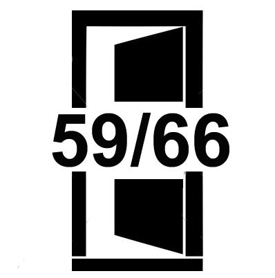 Dveře s madlem uprostřed šířky 59 a 66 cm
