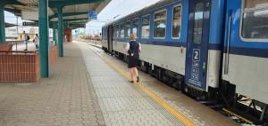 Nástupiště Pardubice hlavní nádraží