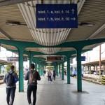Nástupiště 1a, 1b na nádraží v Pardubicích
