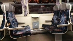 Sedadla vozu RegioNova 814