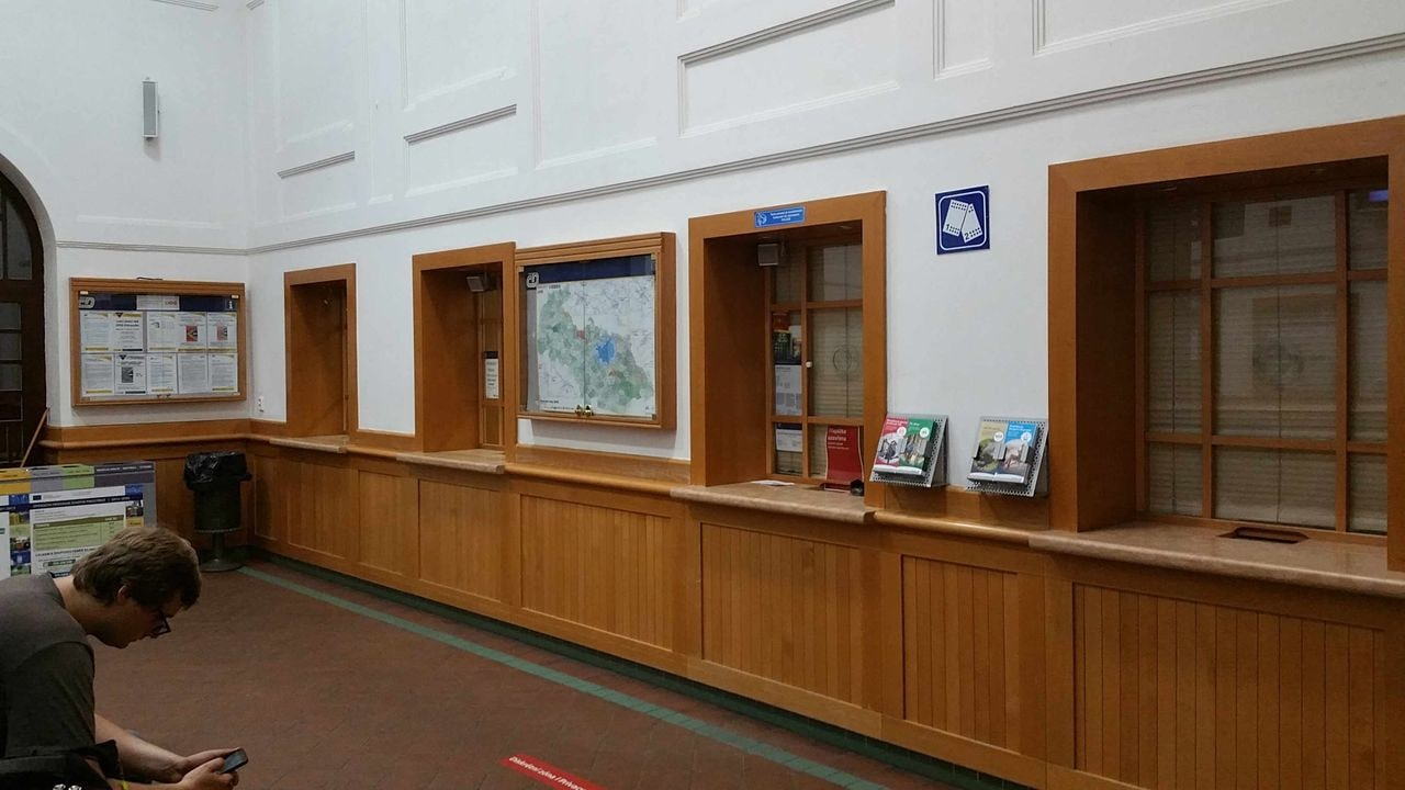 Pokladny na nádraží Ostrava-střed