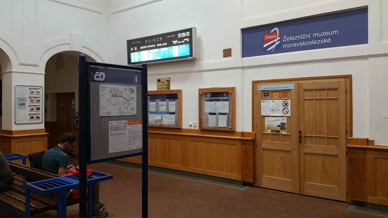 Železniční muzeum na nádraží Ostrava-střed
