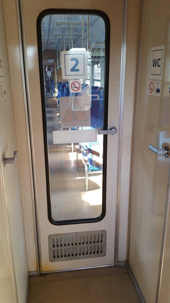 Vnitřní dveře do vozu Bdt 280
