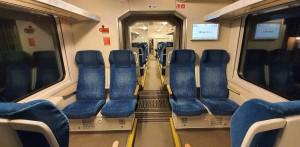 Sedadla 2.třídy vozu InterPanter 661