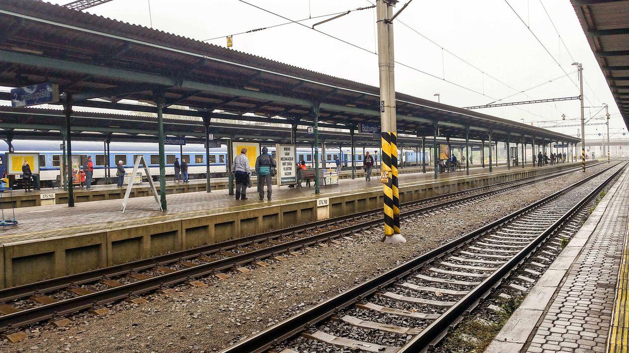 2.nástupiště na nádraží v Bohumíně