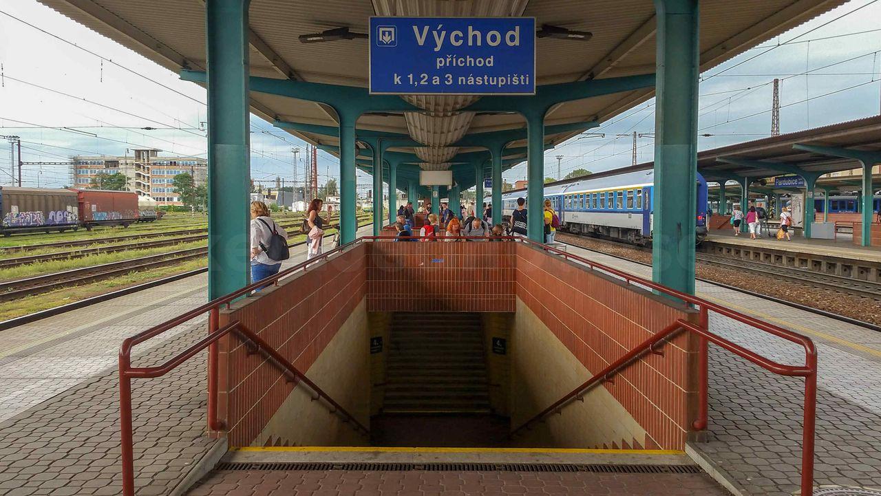 Pardubice main train station
