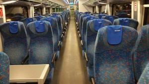 Sedadla ve voze RailJet Bmpz 891