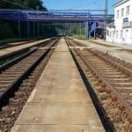 Nádraží Adamov, nástupiště na 3.koleji