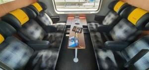 Sedadla vozu RegioJet Business Amz 19-90