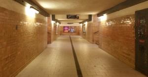 Podchod na nádraží v Mostě